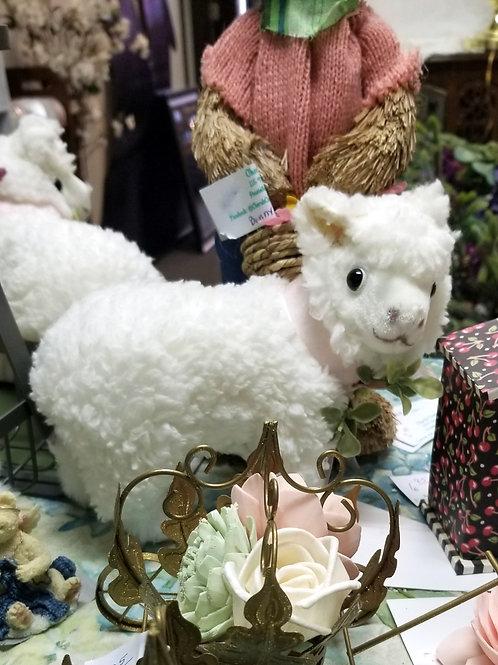 Decor: Springtime Lamb with Bow.