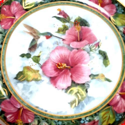 Dish: The Imperial Hummingbird Franklin Mint Ltd Ed. Plate