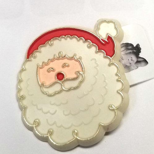 Hallmark PIN Christmas Vintage SANTA CLAUS Face Holiday Brooch