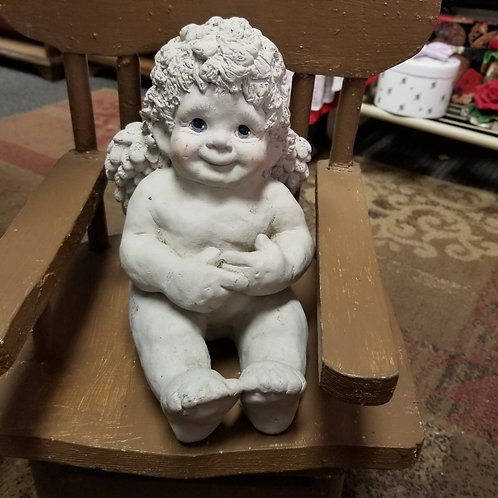 Statue: Large Vintage 1994 Dreamsicles Cherub Signed by Kristin
