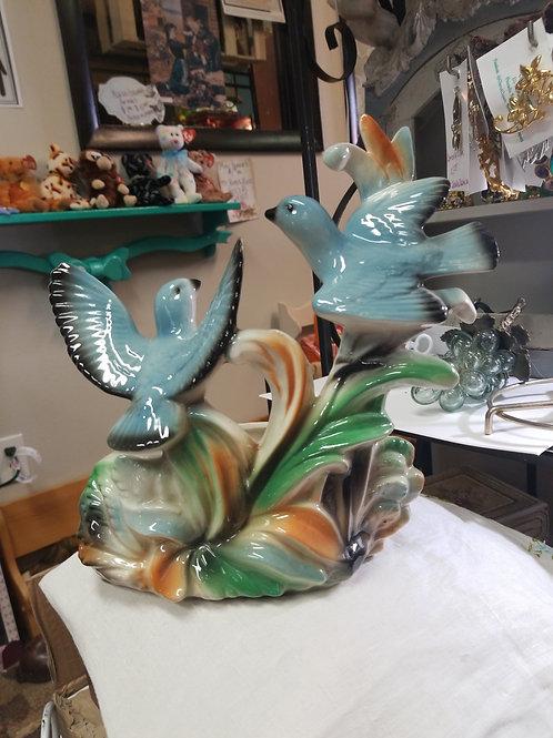 Planter: Vintage 1959 Lane & Co Ceramic Bluebirds