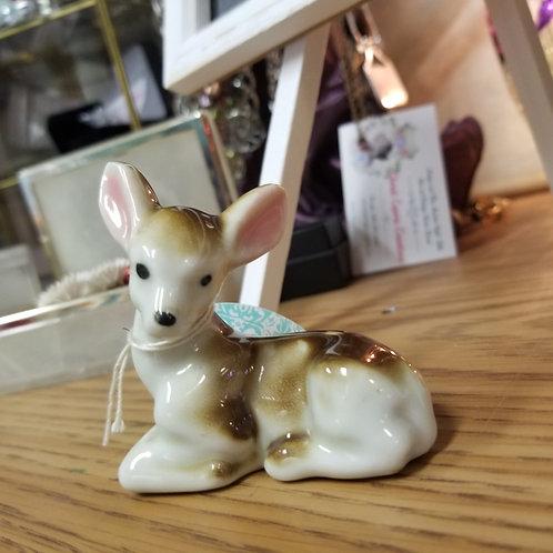 Vintage Small Porcelain Fawn Deer stamped Japan