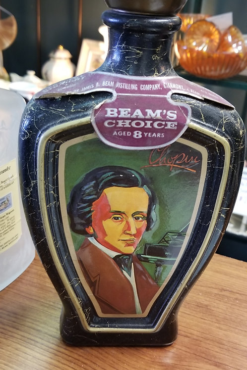 Bottle: Cool Old Jim Beam Decanter with Ode to Chopin