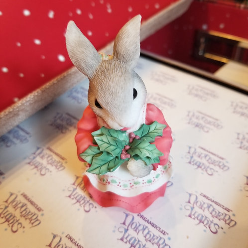 "My Blushing Bunnies  Figurine ""Have a Berry Happy Holly-Day"""