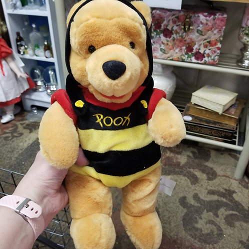 "Plush: Winnie The Pooh Bumble Bee Disney Soft Yellow Black Mouseketoys 12"""