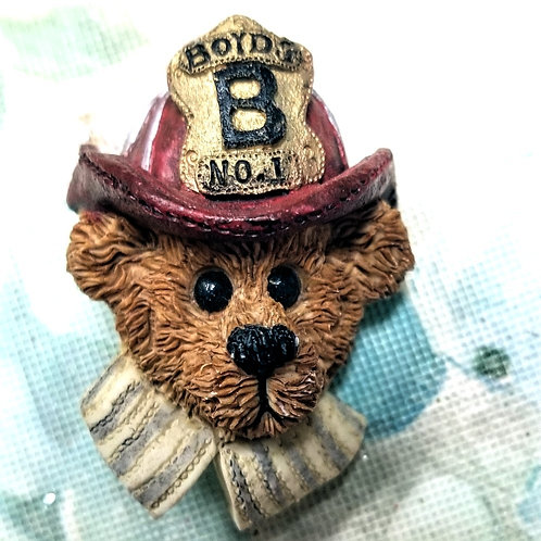 Resin Boyds Bears and Friends Deco. Pin Brooch