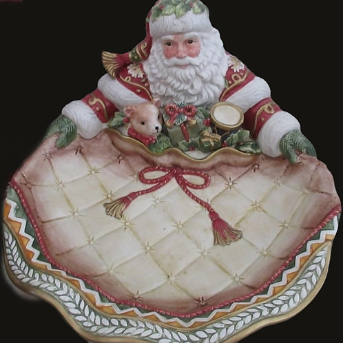 Fitz and Floyd Holiday Santa Clause Ceramic Platter