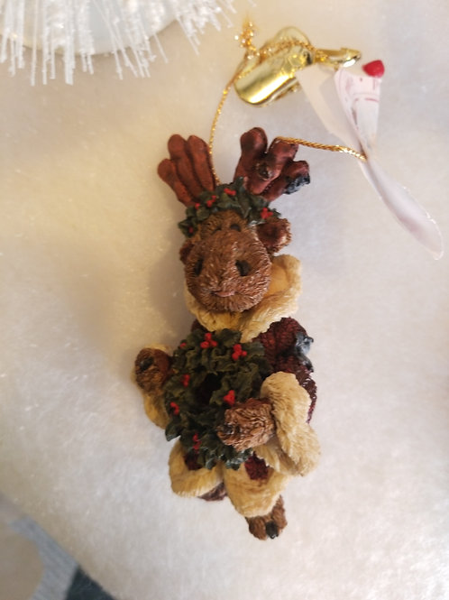 "Boyd's Bears and Friend Holiday Ornament ""Manheim the Moose"""
