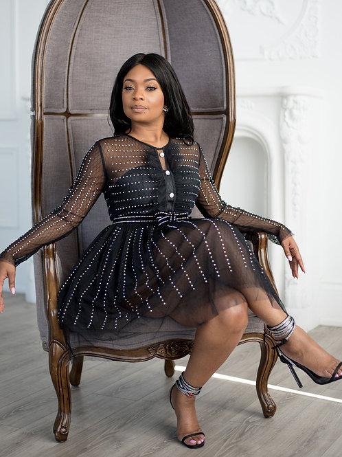 Sheer Elegance | Cocktail Dress