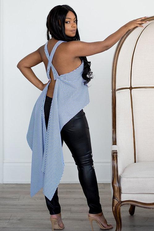 Versatile Stripe | Two Way Blouse
