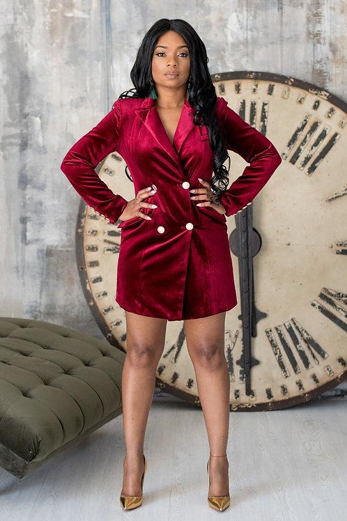 Red Velvet Affair | Blazer Dress