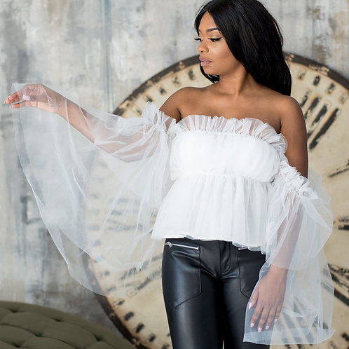 Tinkerbell   Off the Shoulder Blouse