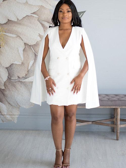Caped Up | Blazer Dress