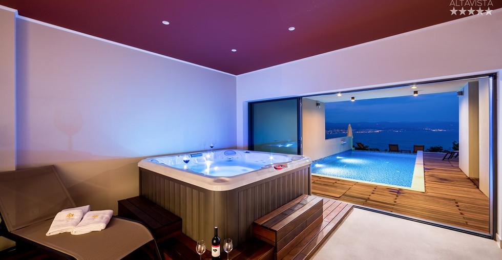 Villa mit Pool, Whirlpool, Sauna, Partyraum