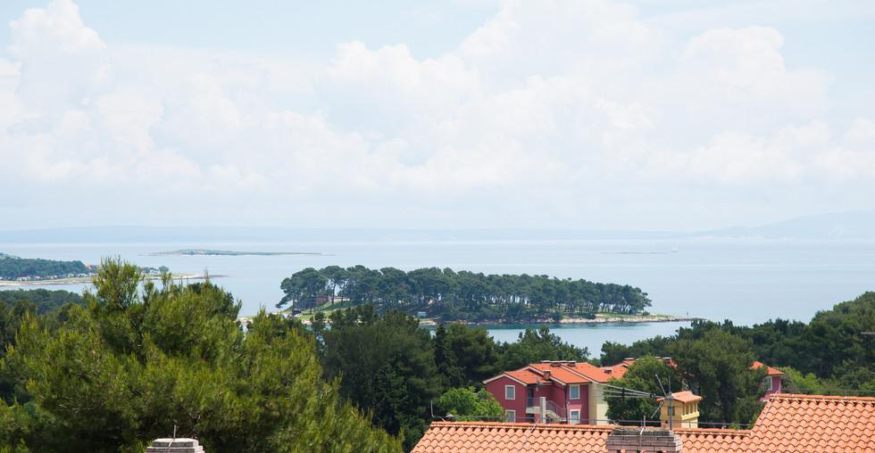 Immobilie mit Meerblick bei Pula in Kroatien