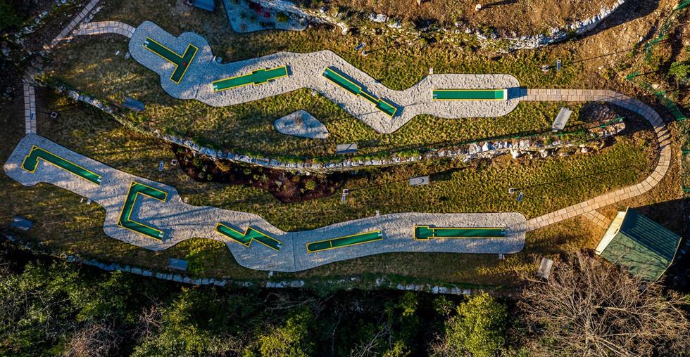 Villa bei Opatija und Minigolfanlage