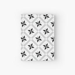 Tile Pattern Hardcover Book