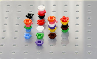 shaped coloured pegs