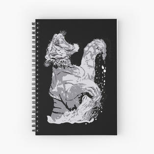 White Tiger Springing out of Water #2 Spiral Notebook