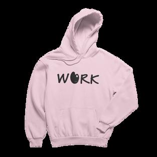 Work Pink Hoodie (Black Print)