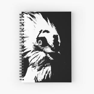 Glaring Vulture Spiral Notebook