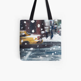 SNOW IN NYC Tote Bag
