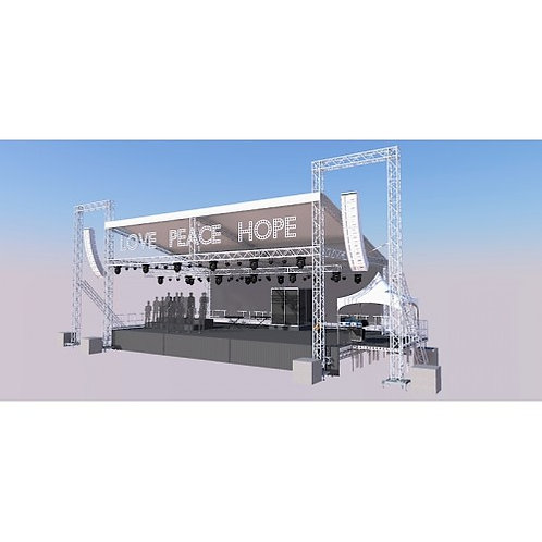 15m x 10m Euro Truss Stage System plus PA Wings