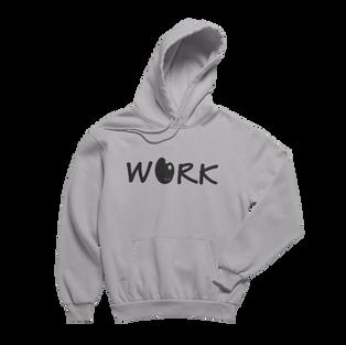 Work Grey Hoodie (Black Print)