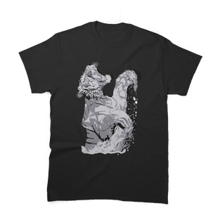 White Tiger Springing out of Water Premium T-Shirt