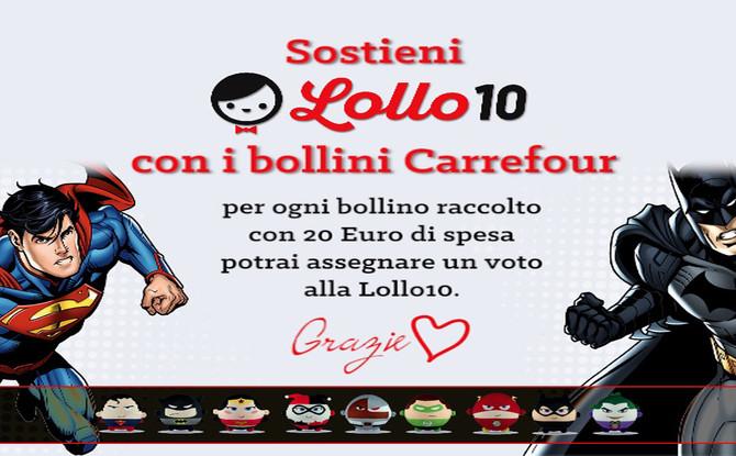 Sostieni Lollo 10 con i bollini Carrefour