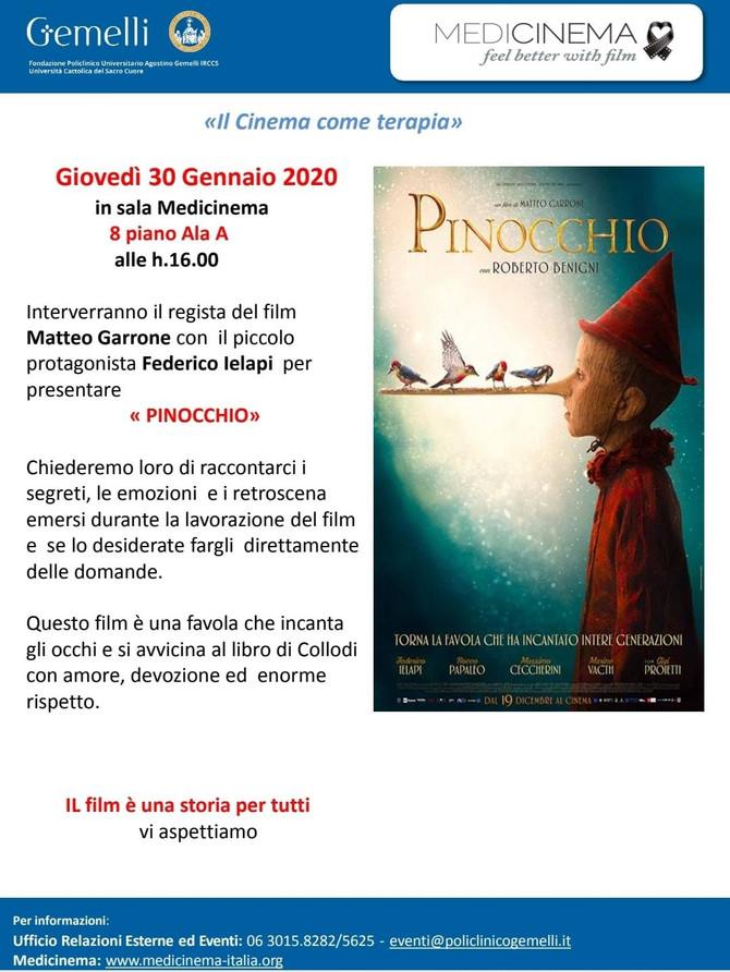 """Al Medicinema del Gemelli arriva """"Pinocchio"""""""