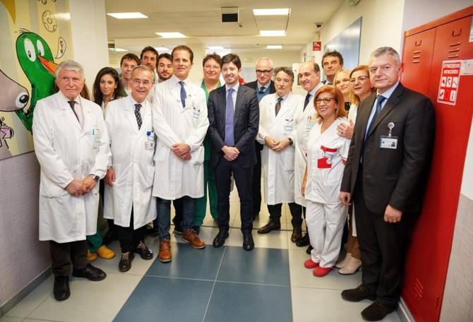 Inaugurazione del nuovo reparto al Policlinico Gemelli