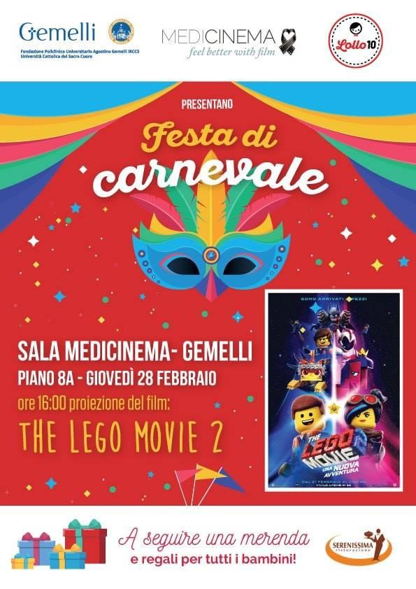Giovedì 28 febbraio Festa di Carnevale al Medicinema Gemelli