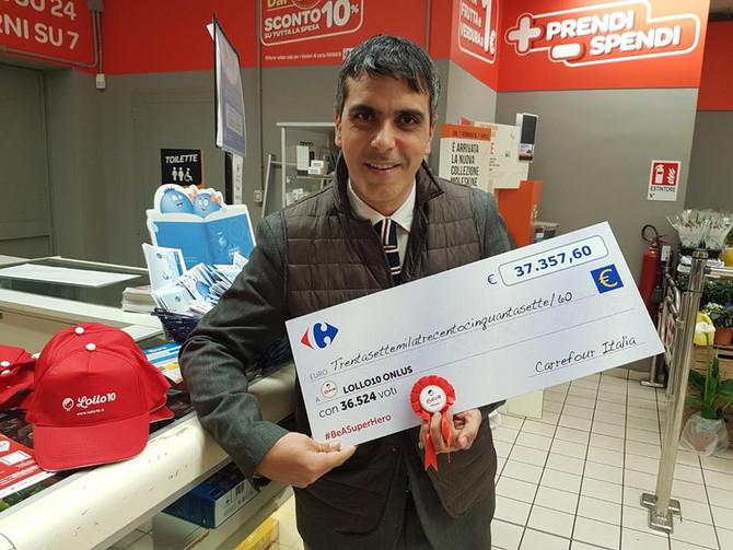 Lollo 10 premiata al Carrefour Market