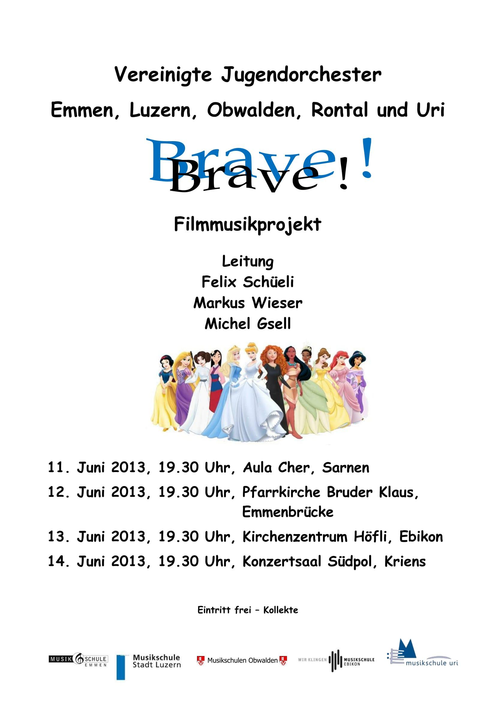 2013 - BRAVE Konzertprogramm VJI-1