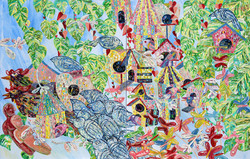 The Backyard, 90 x 140 cm, oil on canvas