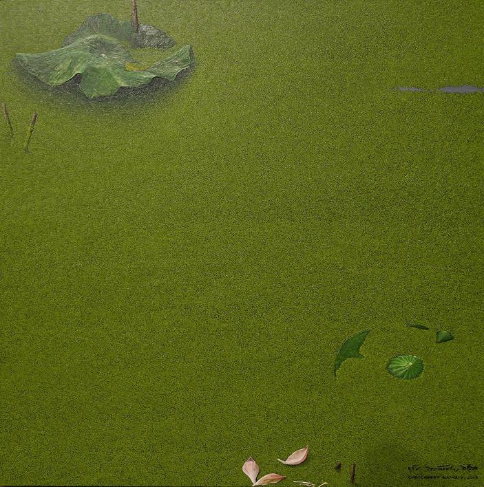 Chutchawan Wannapo, Nature no.1,  oil on