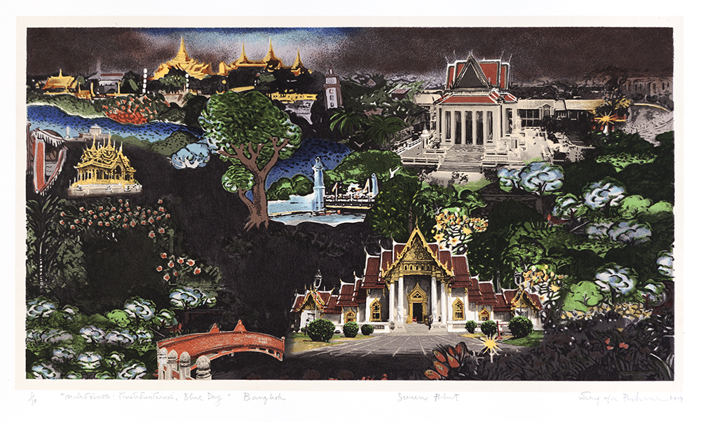 Blue Day: Rattanakosin at Night