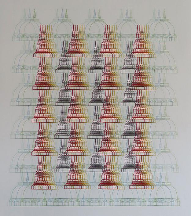 Arnon Sungvondee, Utopia, Stamping, 75 x