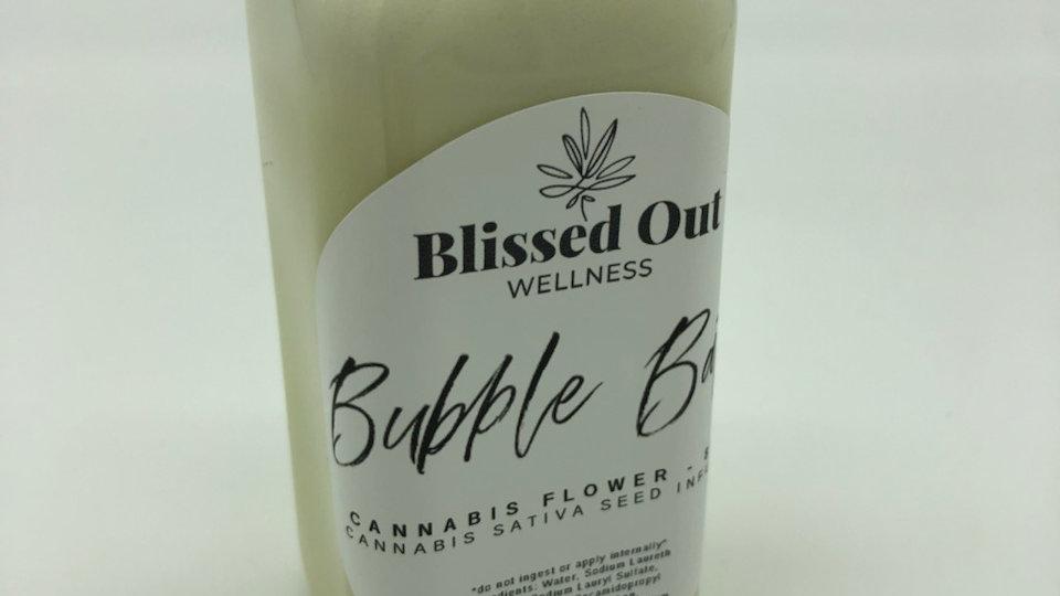 Cannabis flower bubble bath