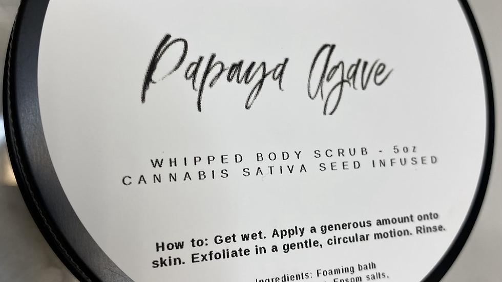 Papaya agave whipped scrub