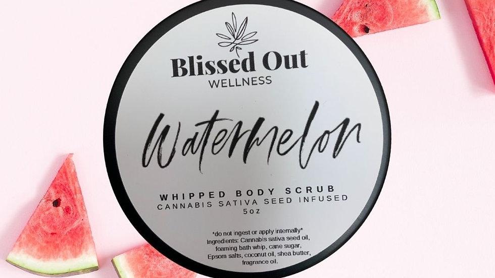 Watermelon whipped scrub