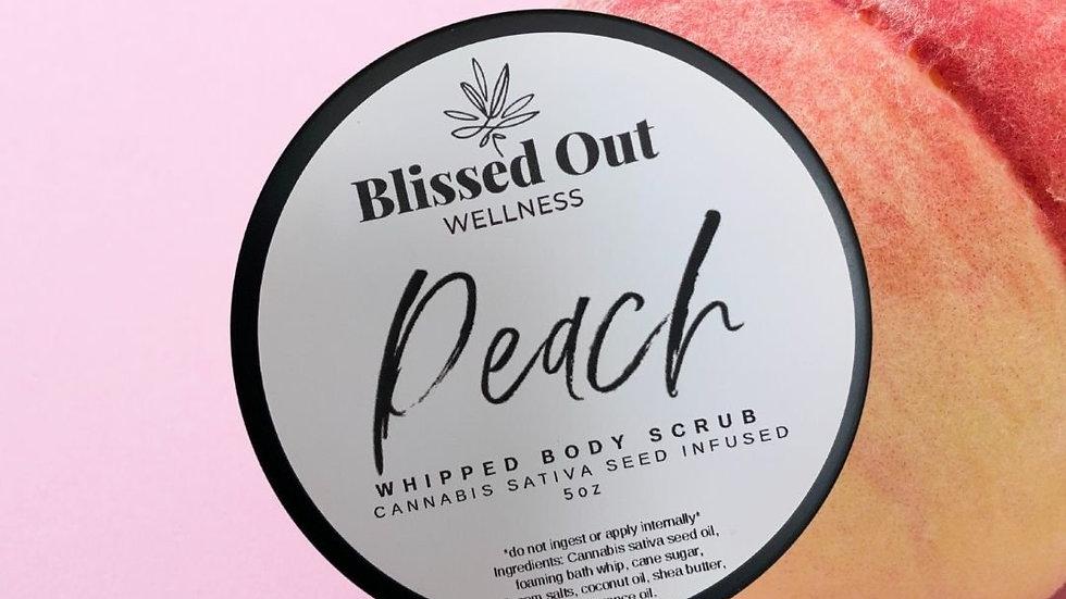 Peach whipped scrub