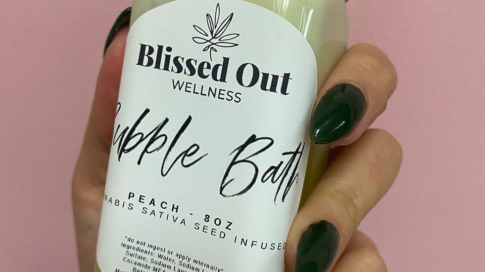 Peach bubble bath