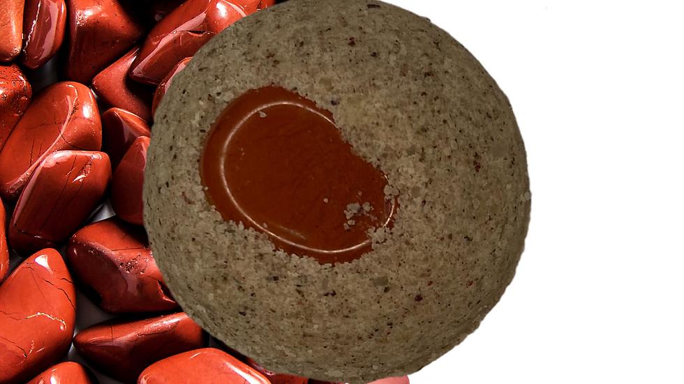 Red jasper bathbomb