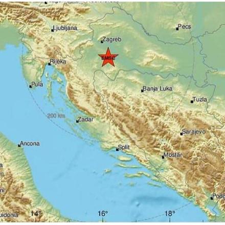 Snažan potres jačine 5,2 stepena prema Richteru pogodio Zagreb, osjetio se i u BiH