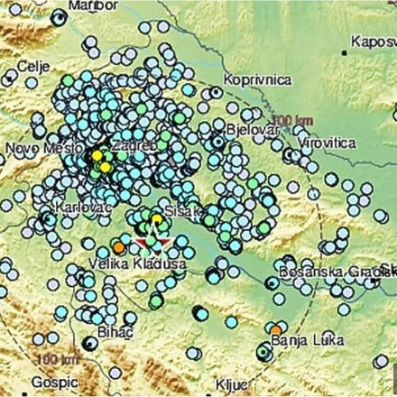 Hrvatsku pogodio još jedan jači zemljotres, epicentar kod Siska