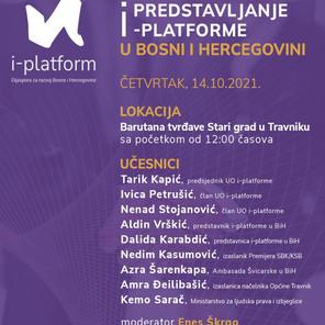 Svečana promocija i predstavljanje i- platforme u BiH