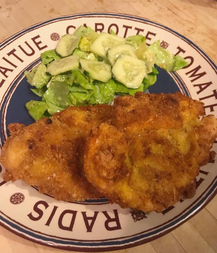 Gluten Free ChickenMilanese and Green Salad MELISSA HORNUNG