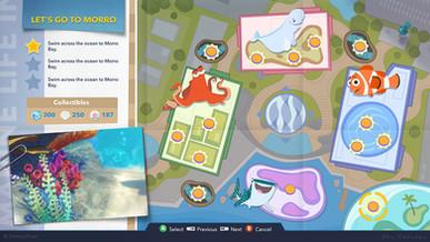 Finding Dory Game UI Screen